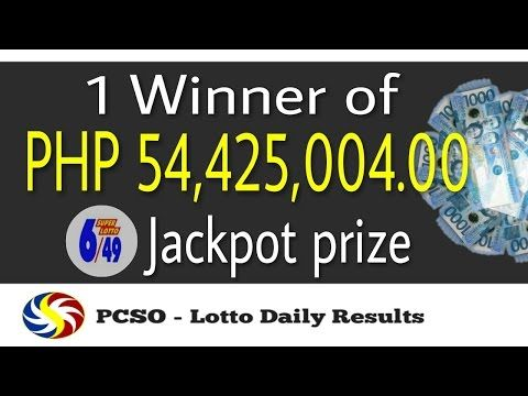 PCSO Super Lotto 6/49 Winning Numbers May 14, 2017 (1 Winner of PHP54,425,004.00) - (More info on: https://1-W-W.COM/lottery/pcso-super-lotto-649-winning-numbers-may-14-2017-1-winner-of-php54425004-00/)