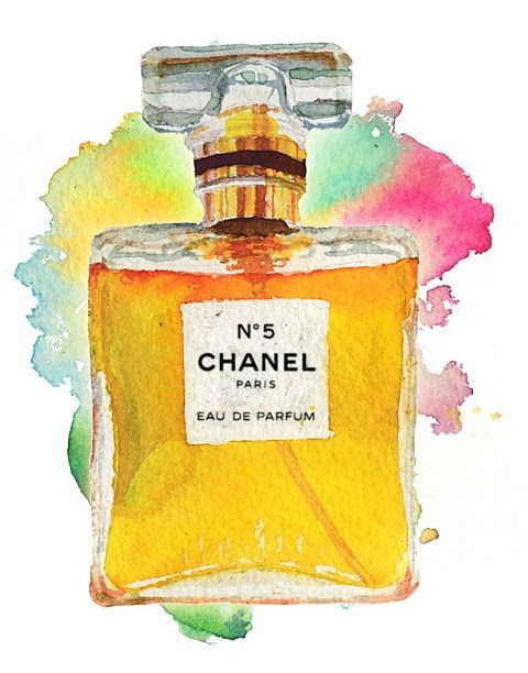 Pin By Dawn Keebals On Fashion Watercolor Chanel Perfume