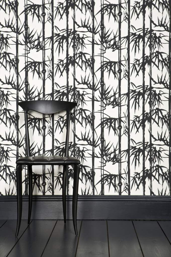 Bamboo wallpaper design by Farrow and Ball.