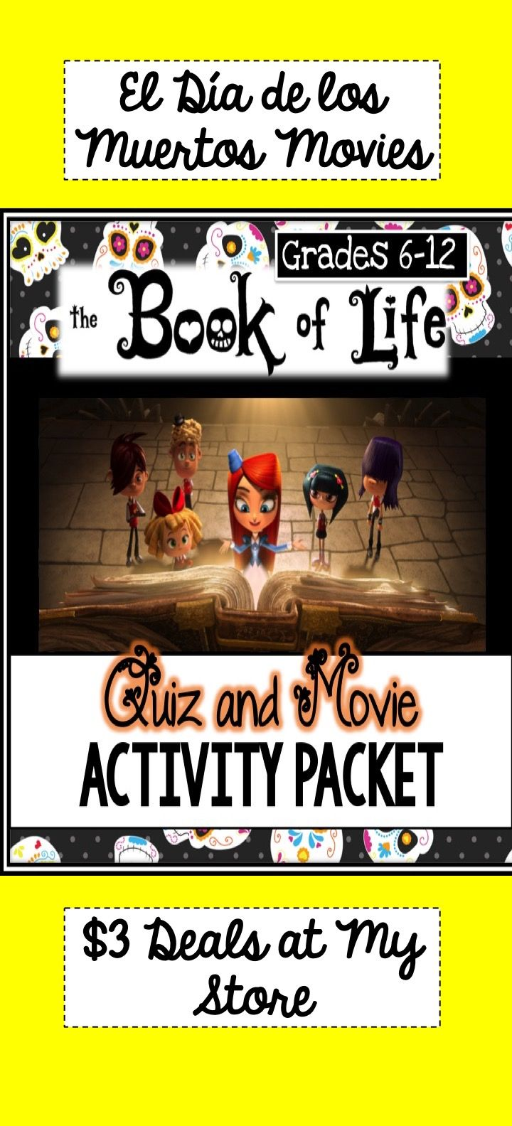 Book of life movie quiz word search matching and seek and find activities