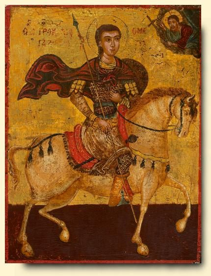 Saint Procopius - exhibited at the Temple Gallery, specialists in Russian icons
