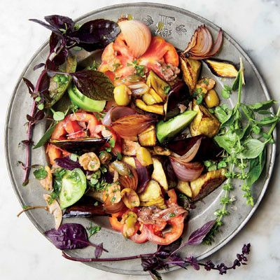Taste Mag | Caponata and fresh tomato salad @ http://taste.co.za/recipes/caponata-and-fresh-tomato-salad/