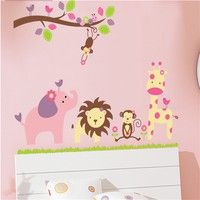 Wish | New Design Home Animals Train Cartoon Wall Sticker Home Kids Room Decor Wall Decal Sticker 60Cm*90 Cm Fine Accessories
