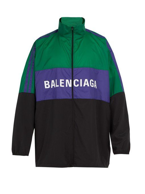 BALENCIAGA Logo-print shell track jacket.  balenciaga  cloth ... 20fe34306c9