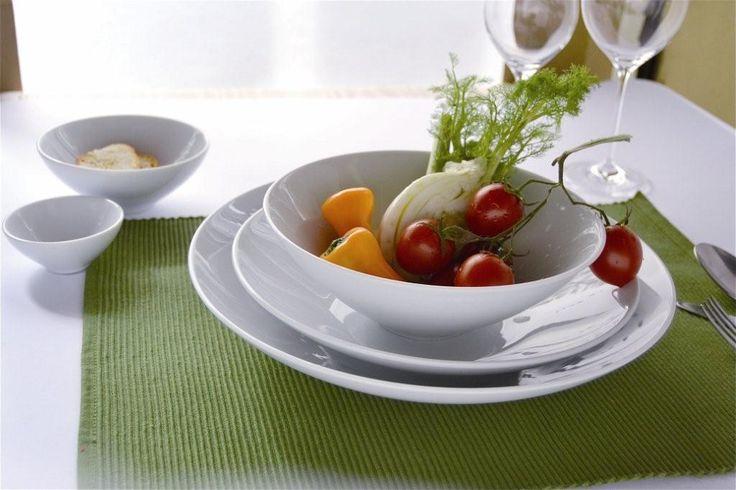 Piatti e coppe in porcellana Passpartout per fresche #insalate e pinzimoni www.ancap.it