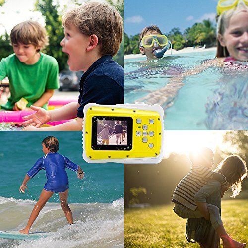 Vmotal GDC5261 impermeable cámara digital con zoom digital de 4x / 8MP / 1,77″ TFT LCD de la pantalla / Cámara impermeable para niños (Amarillo)