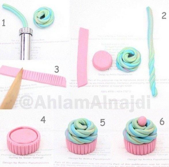 Fimo cupcake