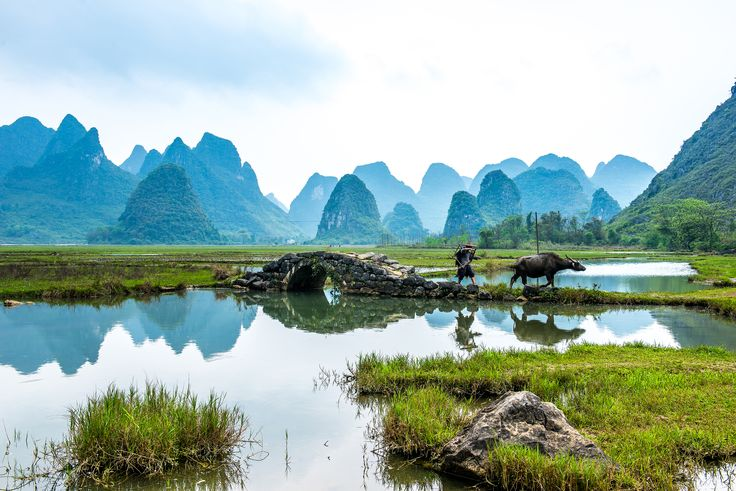 Tianxin Village in Guilin China