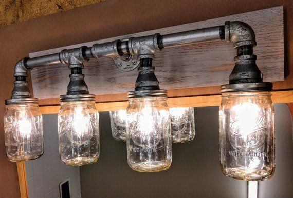 Industrial Rustic And Modern Design Light Fixture The Photo Shows