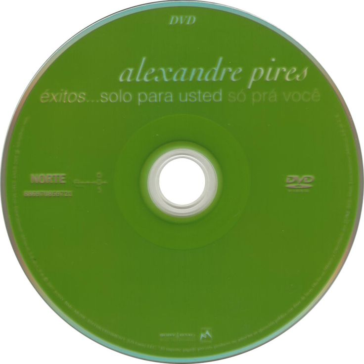 Caratula Dvd de Alexandre Pires - Exitos... Solo Para Usted - So Pra Voce