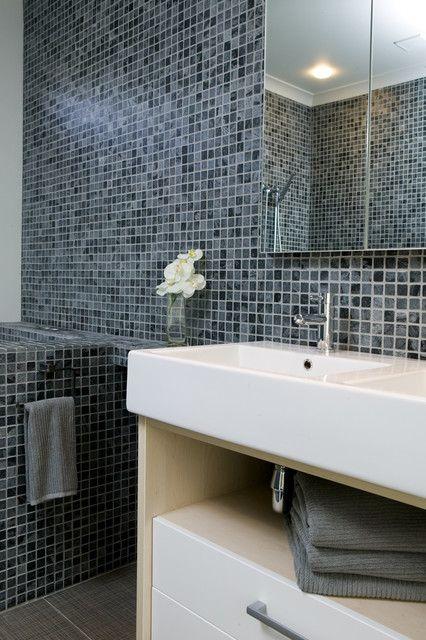 classic mosaic bathroom modern-tile