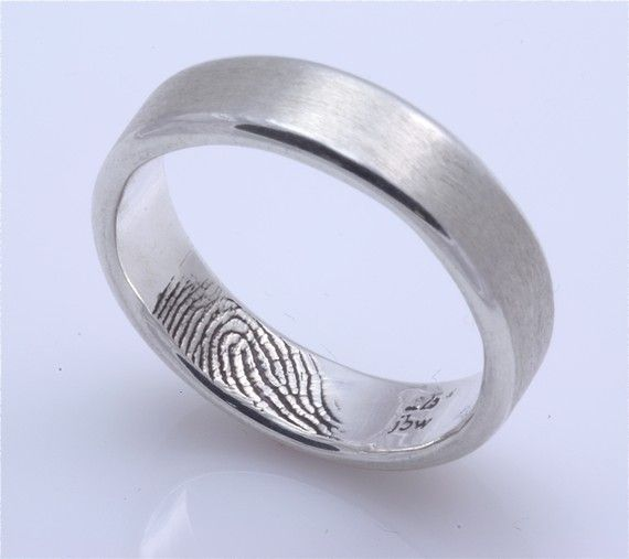 her finger print in his ring..love this idea