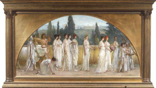 Francis Davis Millet Thesmophoria 1894-1897 Thesmophoria , Antik Yunan'da kutlanan kadınlara özel bir bereket ayinidir. Demeter'in ölen kızı Persephone'yi gömmesi ve onun ardından yas tutmasından gelir. İsmi ise ayinde yapılan temel etkinlikten yani...