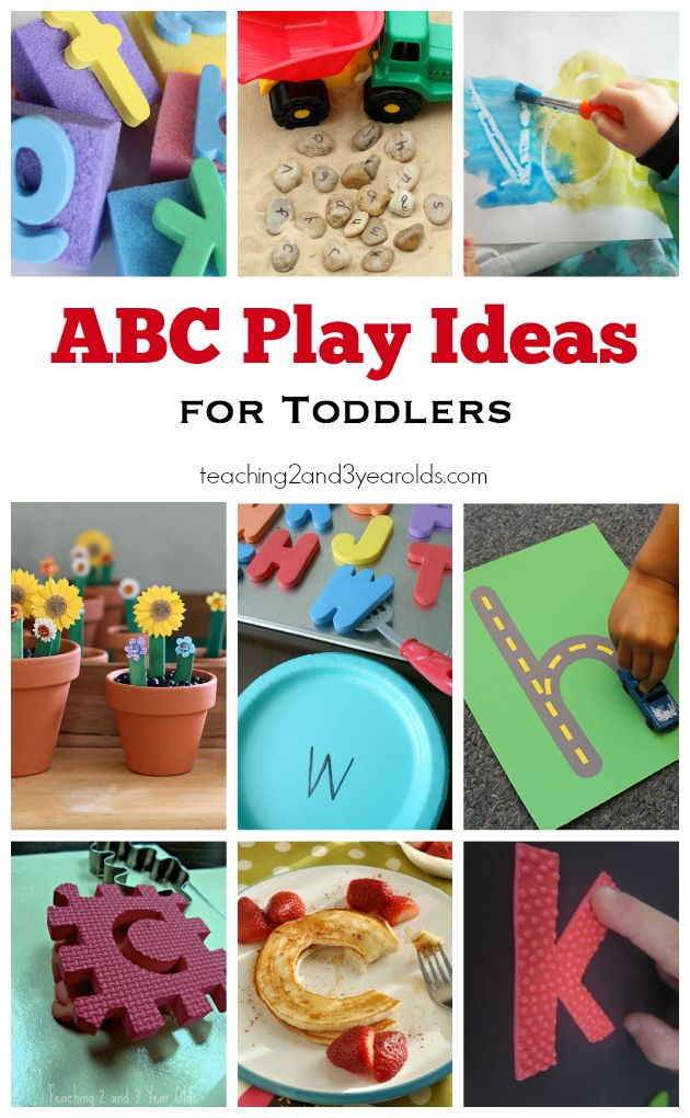 Playful Toddler Alphabet Activities - Teaching 2 and 3 year olds