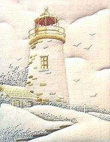 The Lighthouse Candewicking Sculptured Embroidery Kit 013-0254
