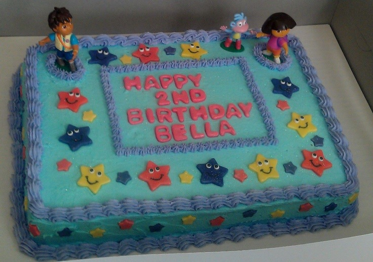 10 Images About Dora The Explorer Cakes On Pinterest