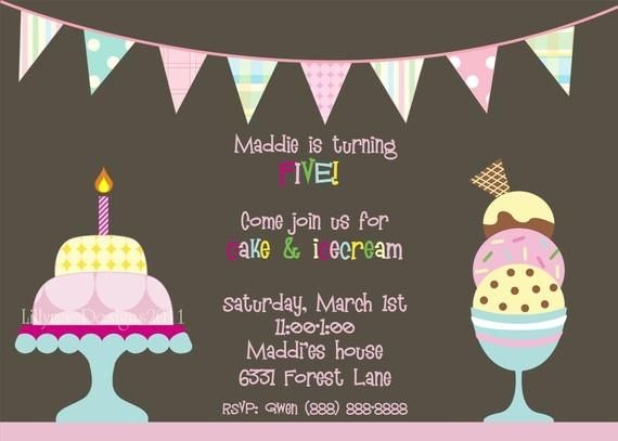 Cake and Ice Cream invitation