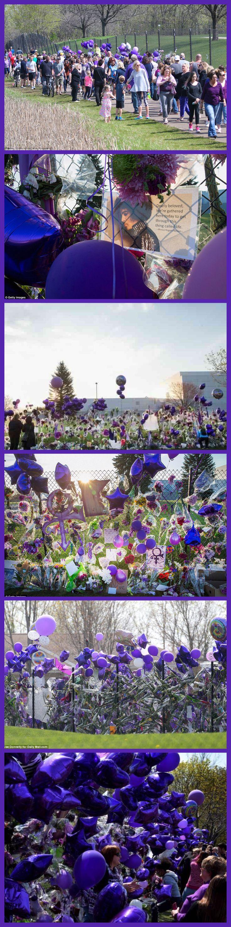 Prince memorial at Paisley Park