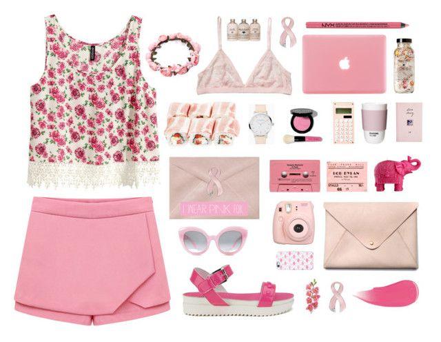"""On wednesdays we wear pink."" by catarinamorais on Polyvore featuring moda, Monki, H&M, Love Moschino, Bobbi Brown Cosmetics, ROOM COPENHAGEN, Mario Luca Giusti, ASOS, HarLex e Crap"