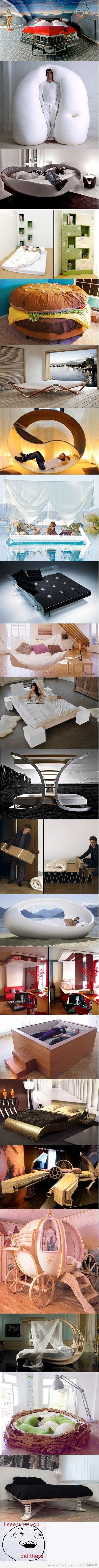 Bed Ideas* I definitely would NOT use the 2nd one...