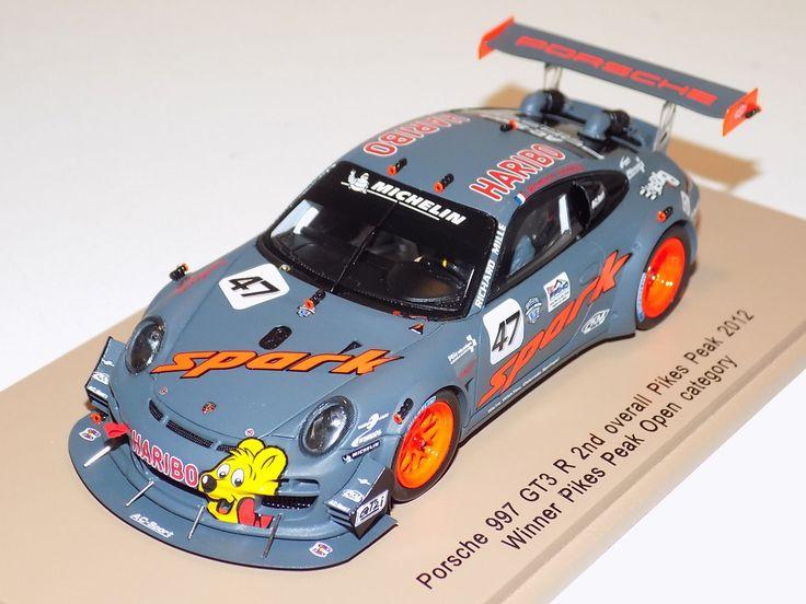 1/43 Spark Models Porsche 997 GT3 R 2nd Overall Pikes Peak Winner 2012 PP001 | eBay