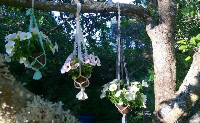 VillaTuta : Helppotekoiset kukka-amppelit!