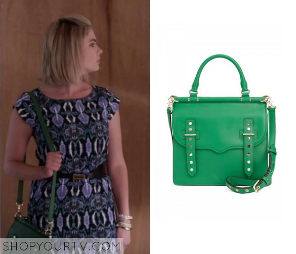 Pretty Little Liars Season 6 Episode 8 Hanna S Green Bag Two Of My Favorite Things Tv And Fashion Pinterest