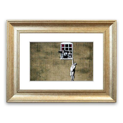 Window Lovers  Cornwall Banksy Framed Wall Art East Urban Home Size: 70 cm H x 93 cm W, Frame Options: Silver   – Products