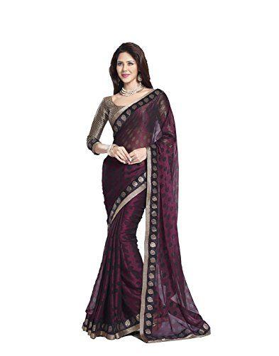 DivyaEmporio Women's Saree/Sari With Unstitched Blouse Free Size Purple DivyaEmporio http://www.amazon.com/dp/B00RXFYJ0W/ref=cm_sw_r_pi_dp_GXz0vb030PNHB