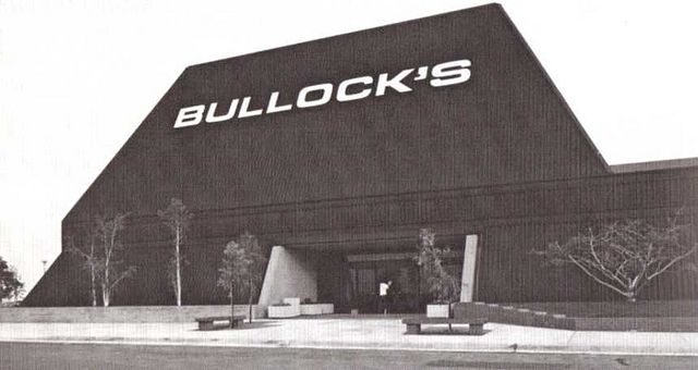 Bullock's South Coast Plaza    Futuristic Bullock's department store, that would become Bullock's best store, and a test market for new lines.