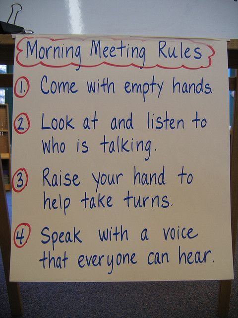 morning meeting activity Morning meetings in middle school: an sharing, a group activity, news, and announcements morning another important difference between middle school morning.