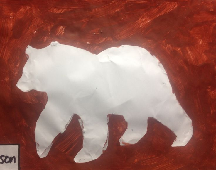Brown Bear, Brown Bear What Do You See? By Eric Carle - Stencil and paint artwork