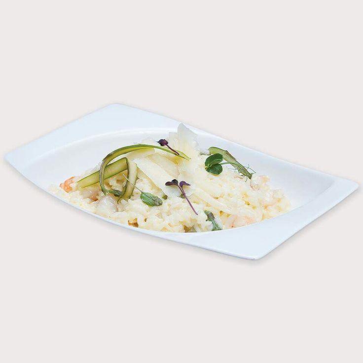 Risotto cu creveți și sparanghel.  http://meniu.skyrestaurant.ro/