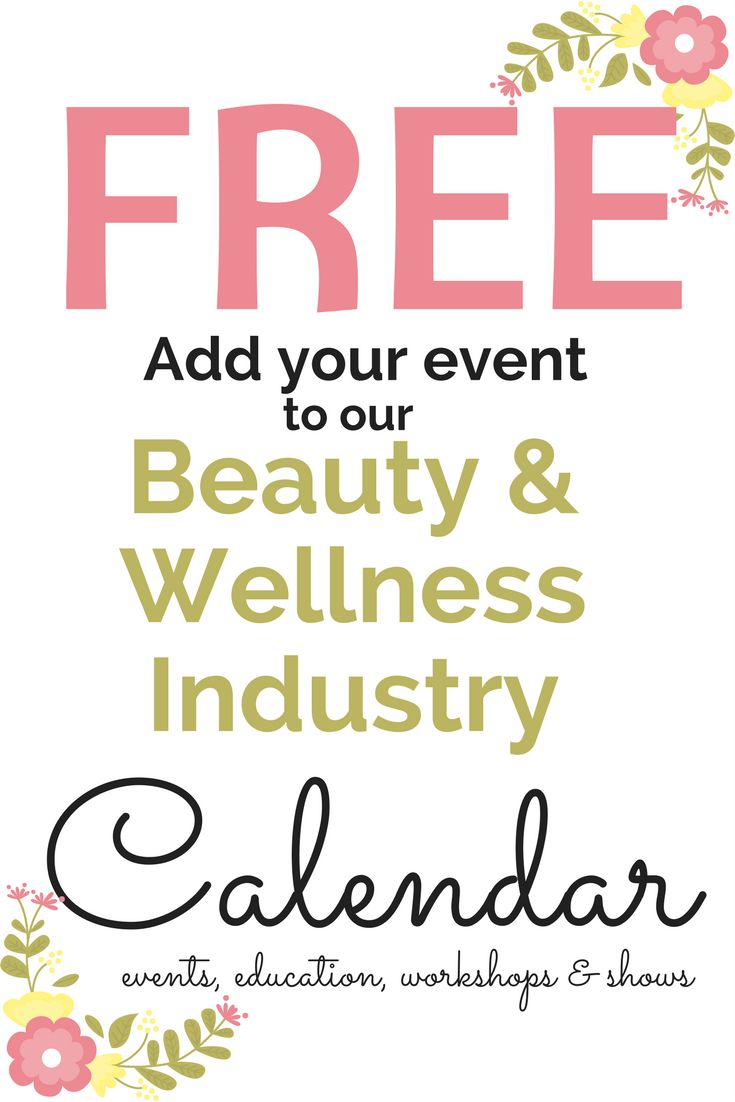 Do you have an industry event coming up?  Add it to our event calendar for Free! #spa #salon #event #calendar