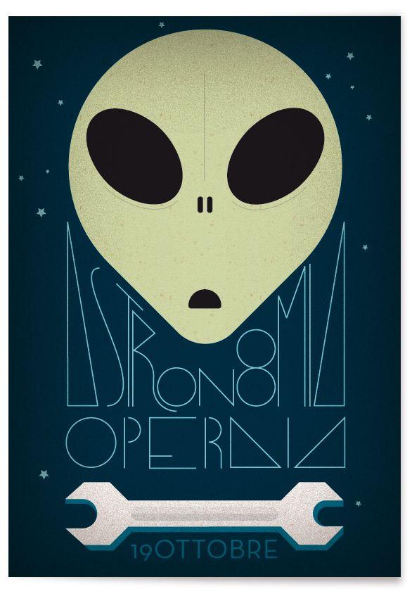 Astronomia operaia #affiche #manifesto #poster #illustration #astronomia #19O