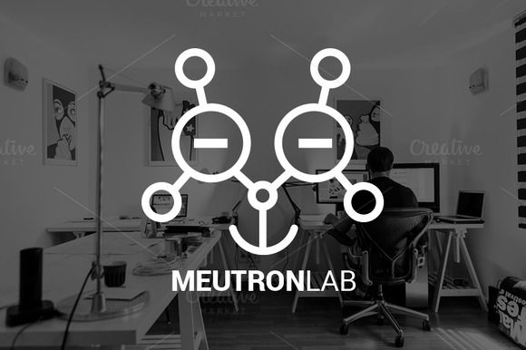 Meutron Lab Logo by Magoo Studio on Creative Market