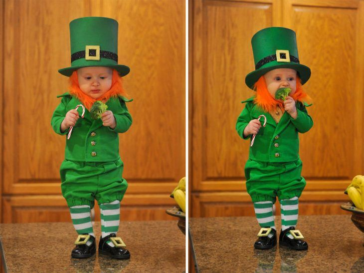 Pin for Later: These Photos of a Real-Life Baby Leprechaun Will Make Everyone Wish They Were Irish Toddler Costumes, Baby Costumes, Halloween Costumes, Leprechaun Costume, Baby Kostüm, Kobold, 6 Month Old Baby, Halloween Disfraces, The Elf