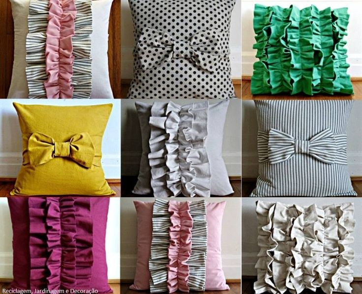 Diy pillows - I don't know why but I love bow pillows