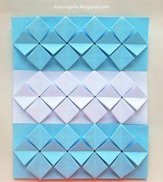 Bandera argentina de origami