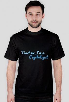 Trust me, I'm a psychologist - męska, niebieska, 43,00 zł, #psychologia, #psychology, #psychopraca, #cupsell, #gifts, #prezenty, #trustme