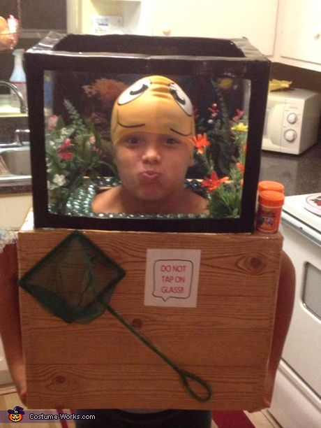 Fishtank Costume - and lots of other costumes from cardboard boxes