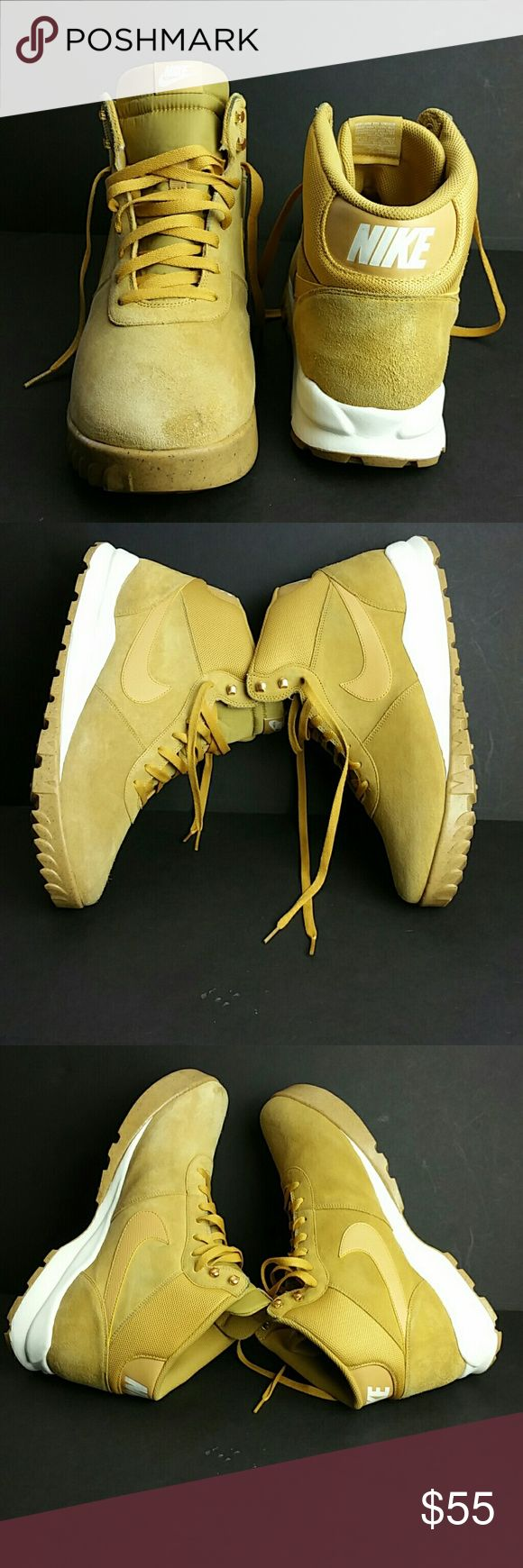 NIKE HOODLAND SUEDE MEN'S SHOES VERY CLEAN INSIDE-OUT   SKE # Ku5 NIKE Shoes Athletic Shoes