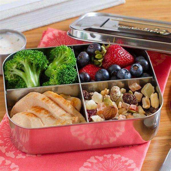 Snackbox Edelstahl 4 Facher Classic Quad 15 X 12 X 4 5 Cm Lebensmittel Essen Mittagessen Fur Kinder Ideen Furs Mittagessen