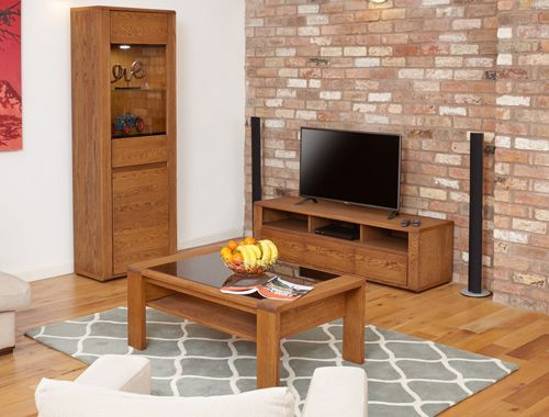Olten - Glazed Coffee Table with Shelf #oak #wood #furniture #home #interior #decor #interiorinspiration #livingroom #diningroom #kitchen #lounge #house #coffee #table #rug