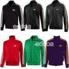 Ανδρικά πρωτότυπα% Adidas Firebird Track Κορυφαία Αθλητική Εκπαίδευση Zip Up Outwear Jacket