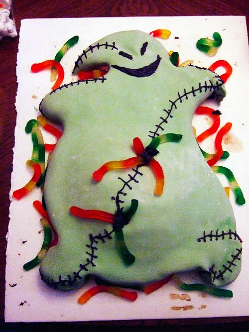 Mom you and josh should make this cake this year for your work party! oogie boogie cake