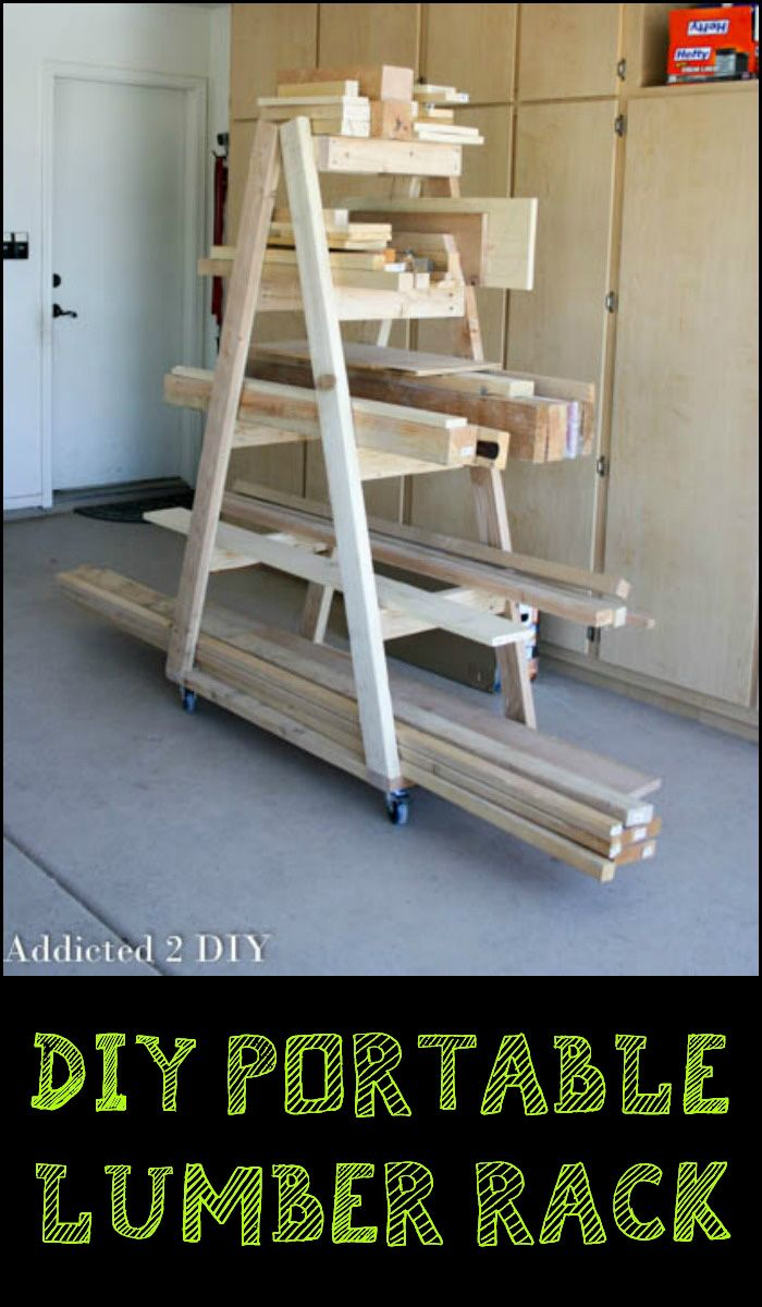 Workshop or garage currently a mess because of your lumber pile? This portable lumber rack can be a great solution for you...