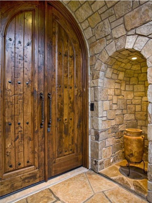 Almost exactly the front doors I need & 129 best Tuscan Decor images on Pinterest | Barn doors Future house ...