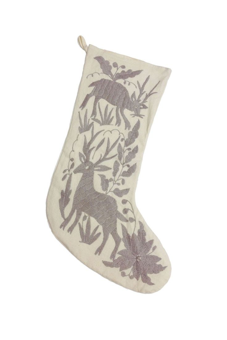 Otomi Embroidered Stockings