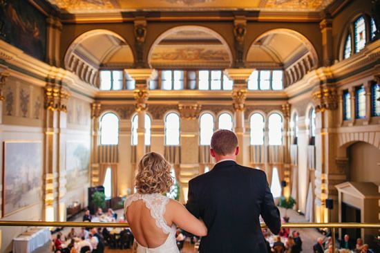One of Milwaukee's most-amazing historic venues, The Grain Exchange is a favorite of ours. This 1880 downtown building once housed Milwaukee's Chamber of Commerce and as an added bonus, its exclusive caterer is Bartolotta's. Photo by Andy Stenz Photography.